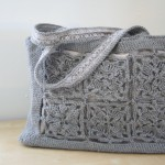 crochet gray with gray patterned lining