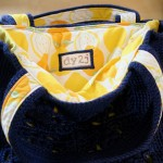 navy and lemon interior label
