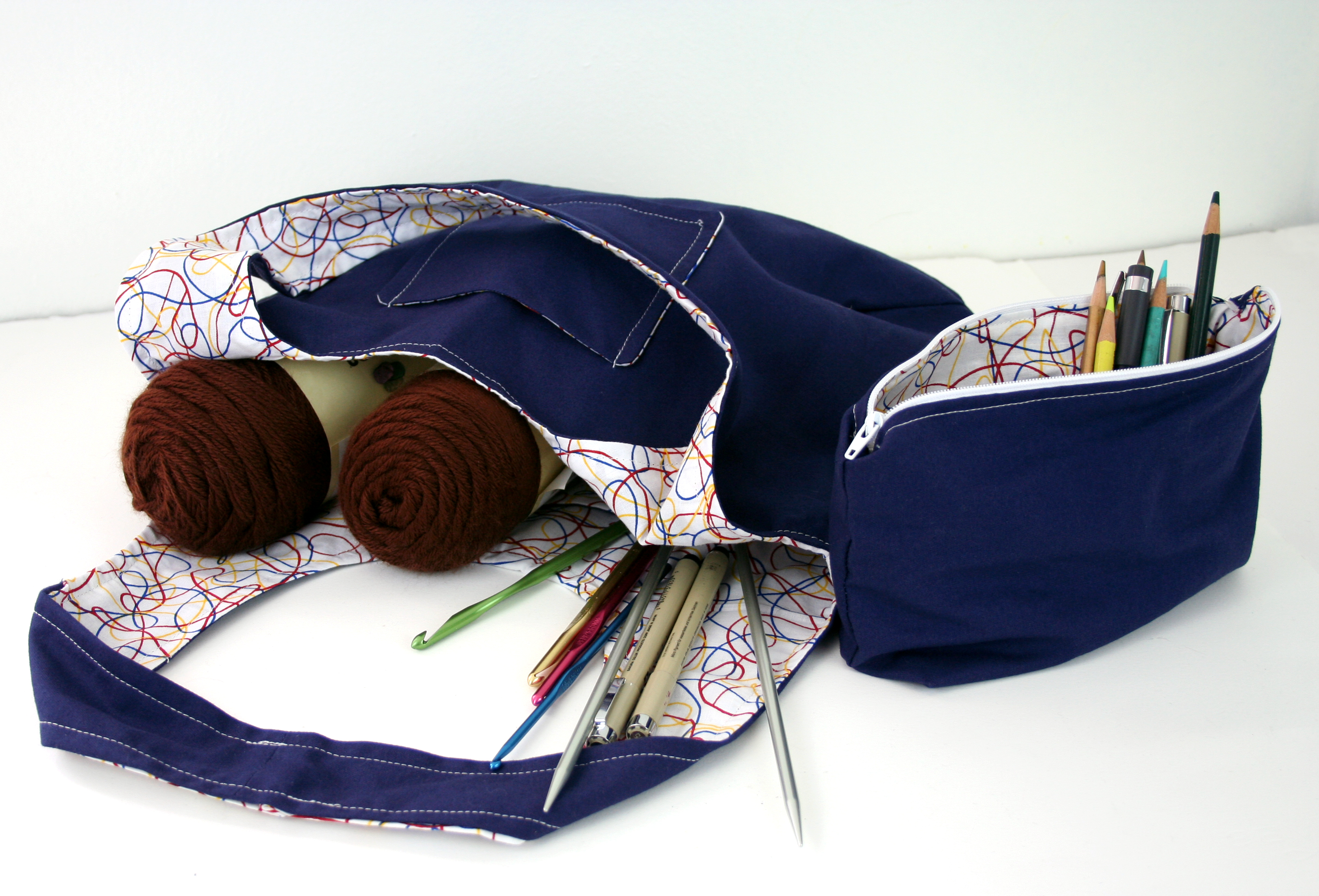 navy and scribbles set